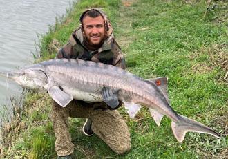 Кадр дня. Ломаченко похвалився 35-кілограмовим трофеєм на рибилці