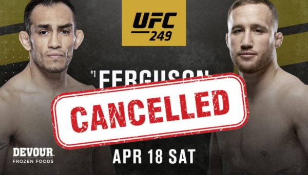 UFC 249 скасовано