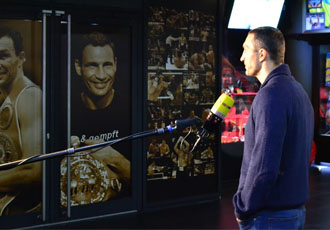 Кадр Дня: Володимир Кличко на зйомках для RTL в Klitschko Expo