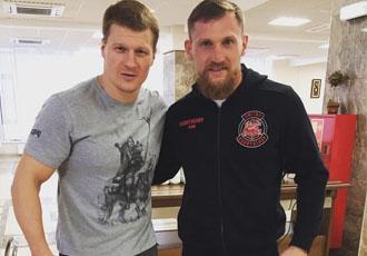 Кадр Дня: Кудряшов і Повєткін тренуються в одному залі