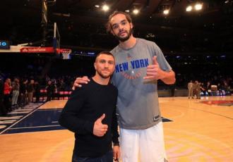 Ломаченко відвідав матч НБА (ВІДЕО)