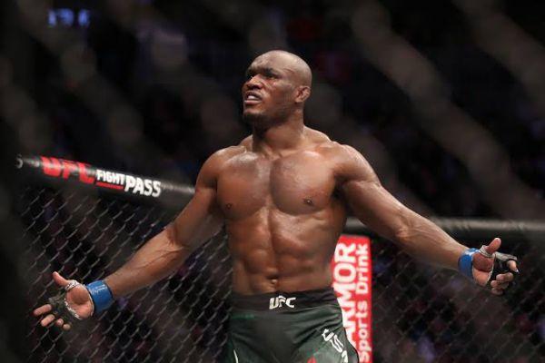 Чемпіон UFC у напівсередній вазі Камару Усман вивс...
