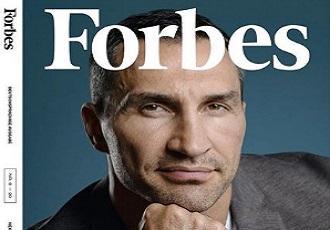 Кадр Дня: Кличко на обкладинці німецького видання Forbes