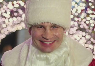 Кадр Дня: Віталій Кличко нарядився в Діда Мороза і привітав киян