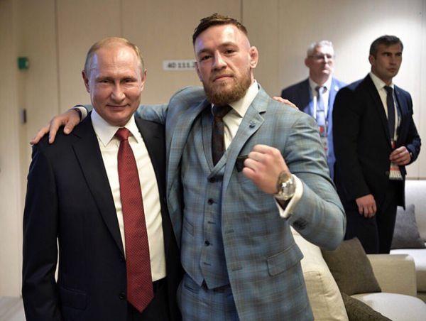 Конор Макгрегор з Володимиром Путіним (ФОТО)