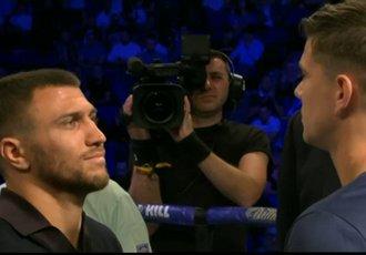 Ломаченко і Кемпбелл провели дуель поглядів у рингу (ВІДЕО)
