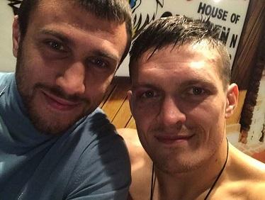 Кадр Дня: Ломаченко привітав свого кума Усика з перемогою