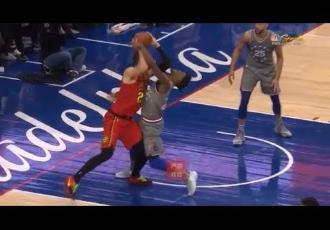 Український баскетболіст ледь не нокаутував зірку НБА (ВІДЕО)