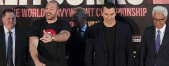 Як відбувалась прес-конференція перед реваншем Кличко-Фьюрі (ФОТО)