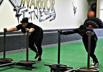 Кадр Дня: Кроуфорд тренується разом з дружиною