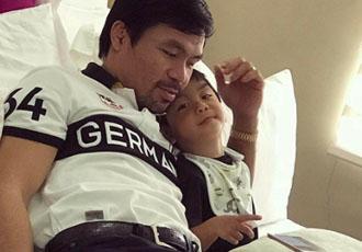 Кадр Дня: Менні Пакьяо з сином