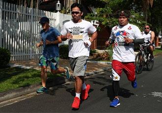 Команда Менні Пакьяо на пробіжці (ФОТО)