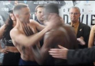 Бійка на зважуванні британських боксерів (ВІДЕО)