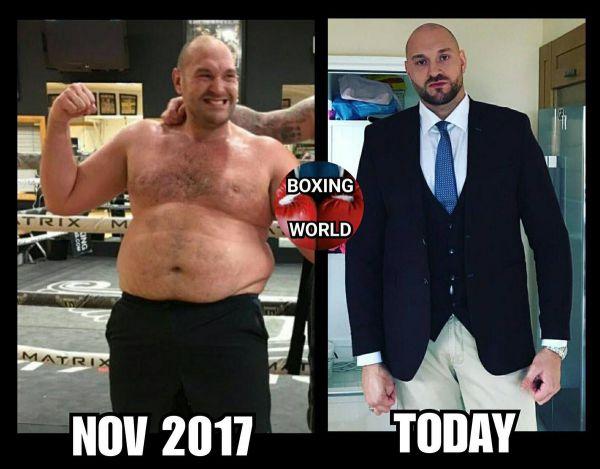 Кадр Дня. Тайсон Фьюрі скинув десятки кілограмів