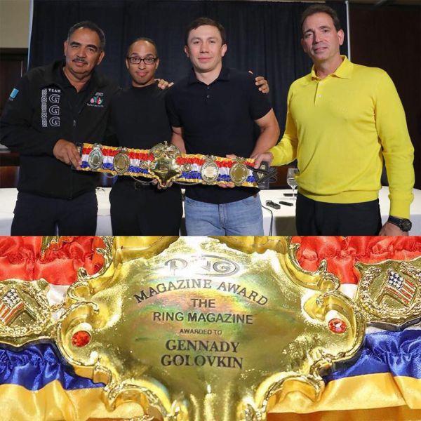 Кадр Дня: Головкін показав чемпіонський пояс The Ring
